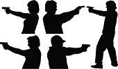 Gun Shooting Silhouettes