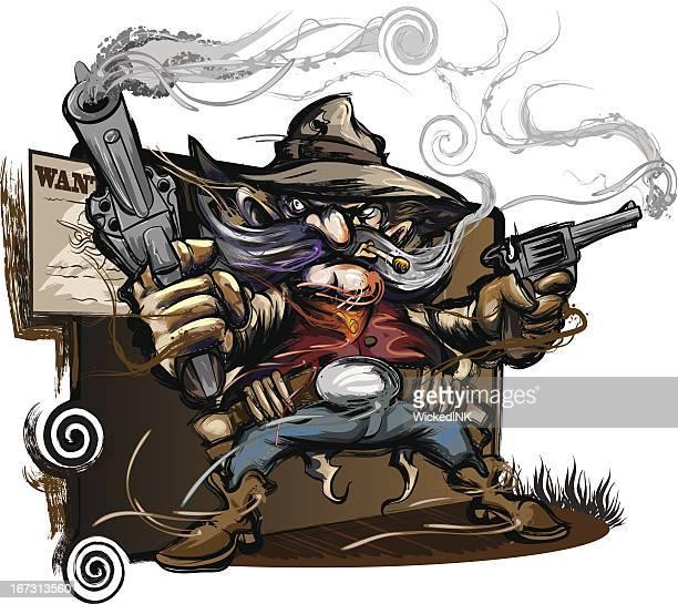 Western Outlaw Tattoo Illustrations et dessi...