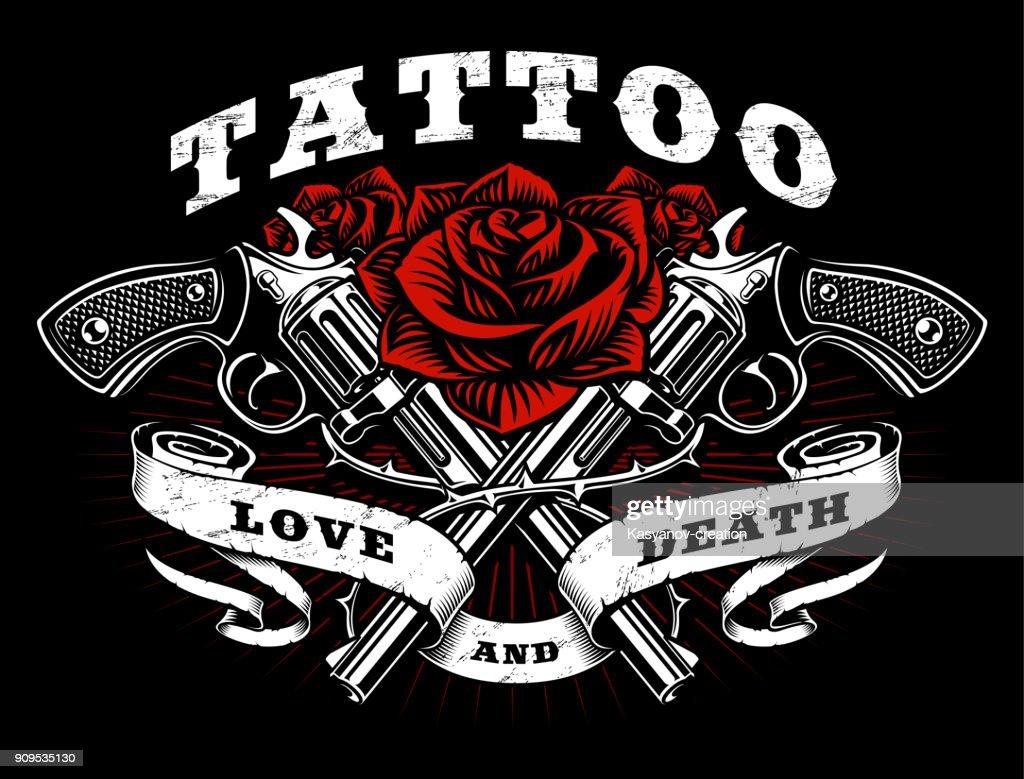 Guns and roses tattoo design.