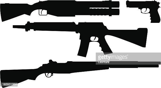 guns - rifle stock illustrations