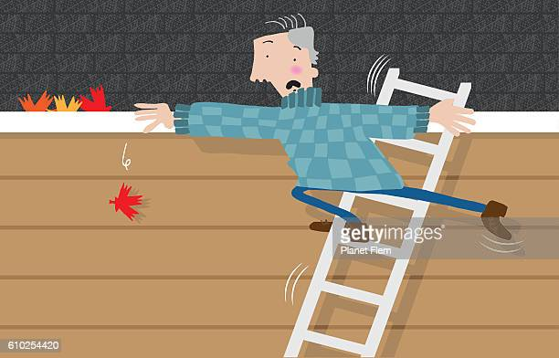 gutter cleaning - careless stock illustrations, clip art, cartoons, & icons
