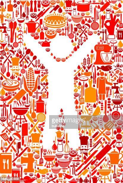 guy, kochen und essen vektormuster symbol - social grace stock-grafiken, -clipart, -cartoons und -symbole