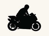 Guy on Motorcycle  ( Vector )