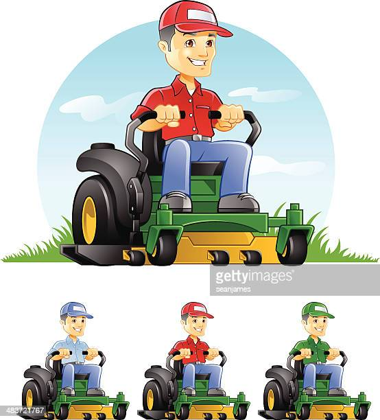 Guy Riding Lawn Mower