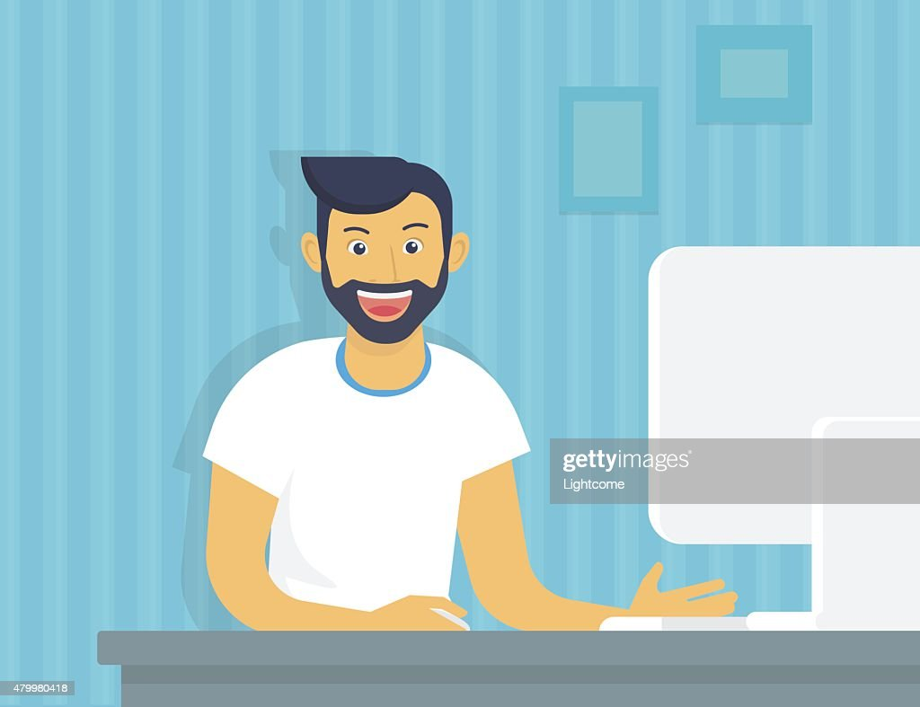 Guy with computer