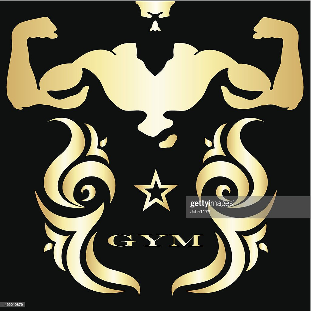 Gym and fitness symbol