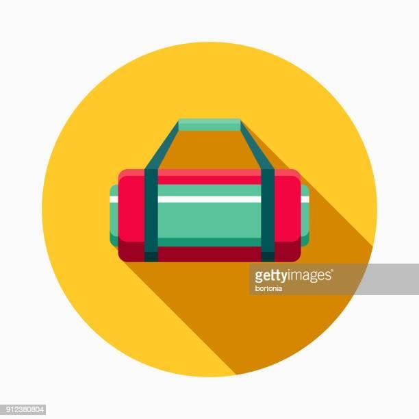 ジム バッグ フラットなデザインのフィットネス ・運動のアイコン - スポーツバッグ点のイラスト素材/クリップアート素材/マンガ素材/アイコン素材