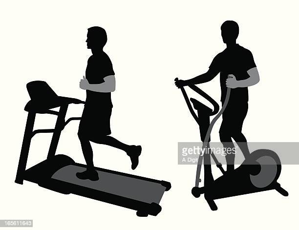 Gym Equipment Vector Silhouette