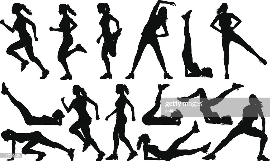 Gym Exercises Silhouettes High-Res Vector Graphic - Getty ...