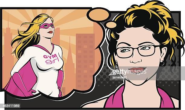ilustrações de stock, clip art, desenhos animados e ícones de menina de ginástica - loira