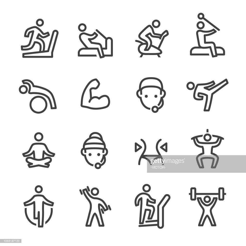Gym Icons - Line Series : stock illustration
