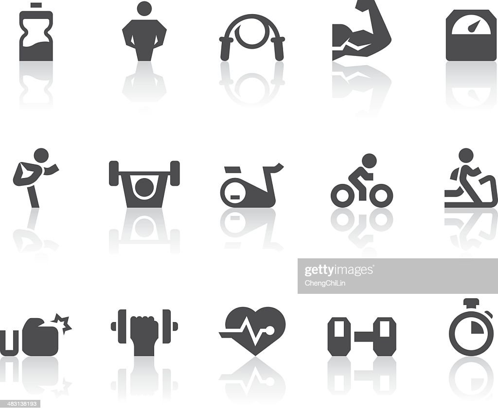 Gym Icons | Simple Black Series : stock illustration