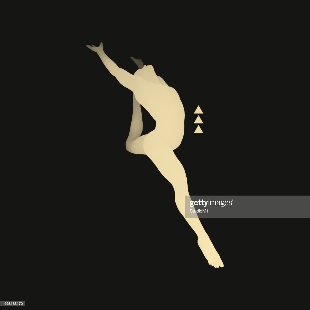 Gymnast. 3D Human Body Model. Gymnastics Activities for Icon.