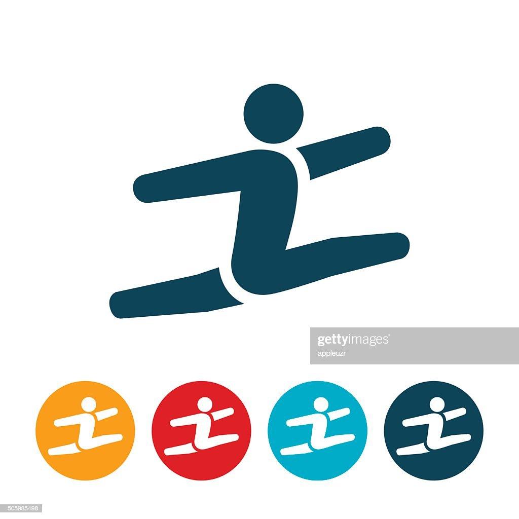 Gymnast Icon : Stock Illustration