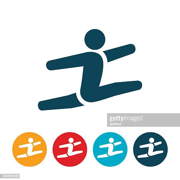 gymnast icon - gymnastics stock illustrations