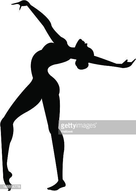 gymnast silhouette - dipping stock illustrations, clip art, cartoons, & icons