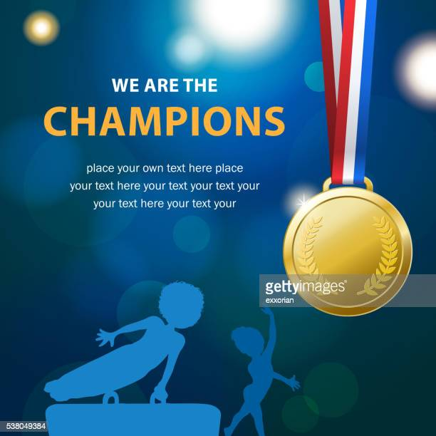 gymnastics championships - gymnastics stock illustrations, clip art, cartoons, & icons