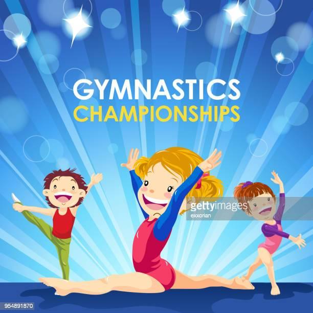 gymnastics championships - gymnastics stock illustrations