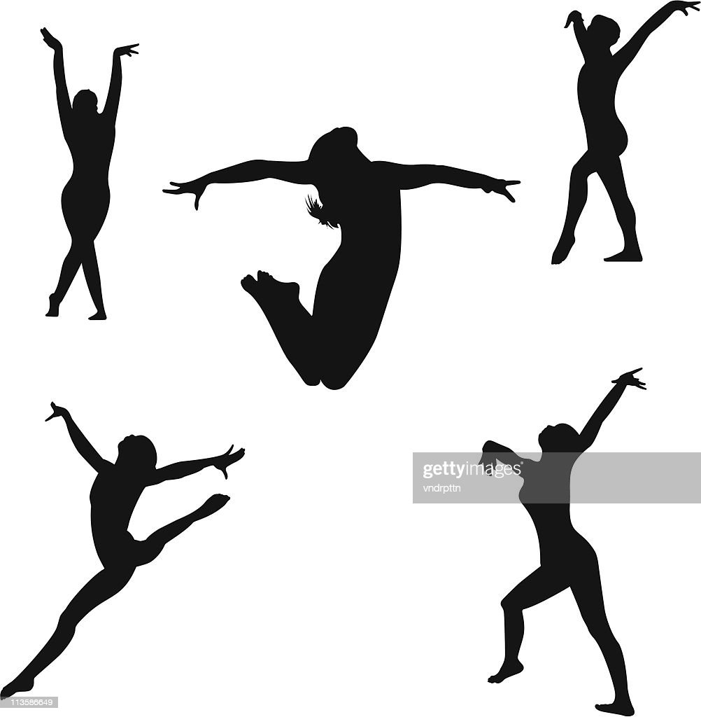 Gymnastics Floor Routine : Stock Illustration