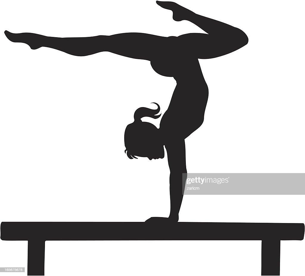 Gymnastics : Stock Illustration