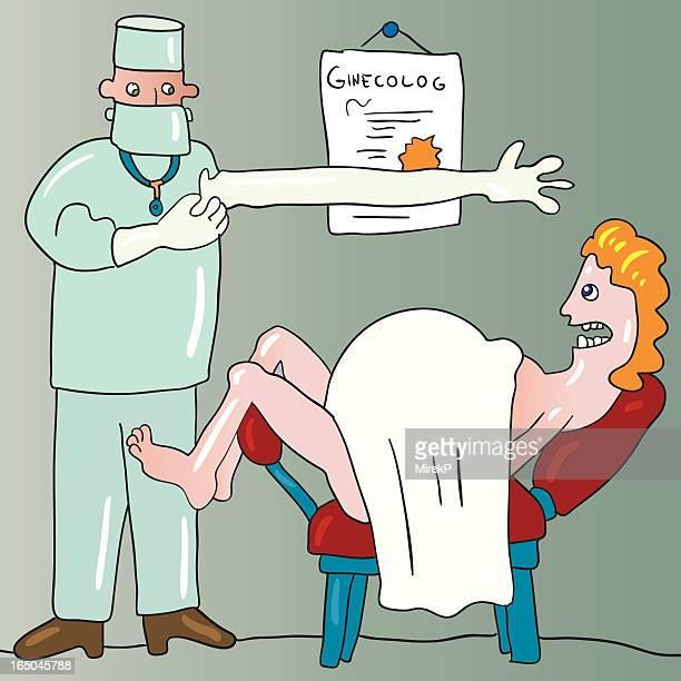 gynecolog - gynecological examination stock illustrations, clip art, cartoons, & icons