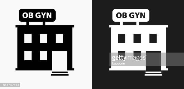 黒と白のベクトルの背景の産婦人科オフィス アイコン - 繁殖力点のイラスト素材/クリップアート素材/マンガ素材/アイコン素材