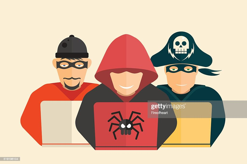 Hacker, computer pirate and scammer.