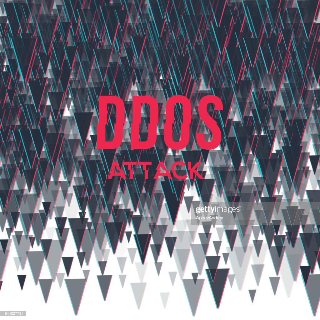 Hacker DDoS attack on abstrackt background.