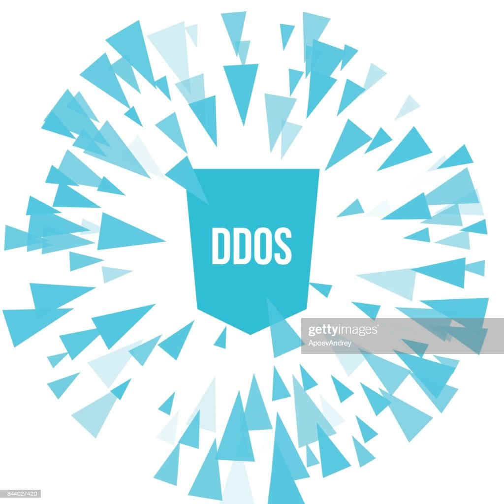 Hacker DDoS attack protection.