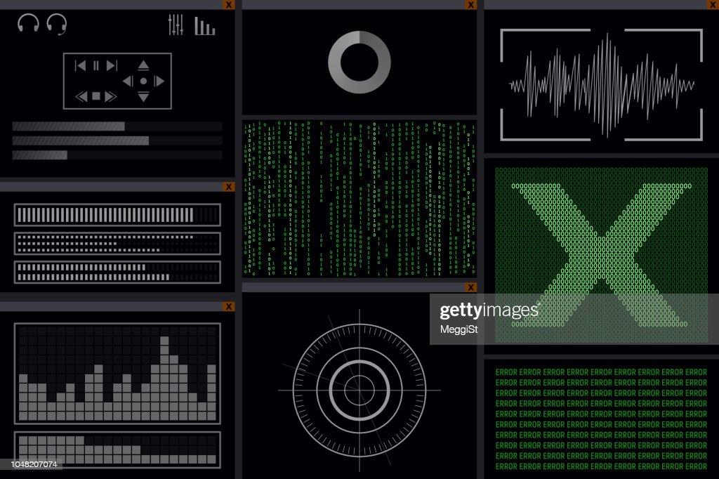 A hacker program with viruses.