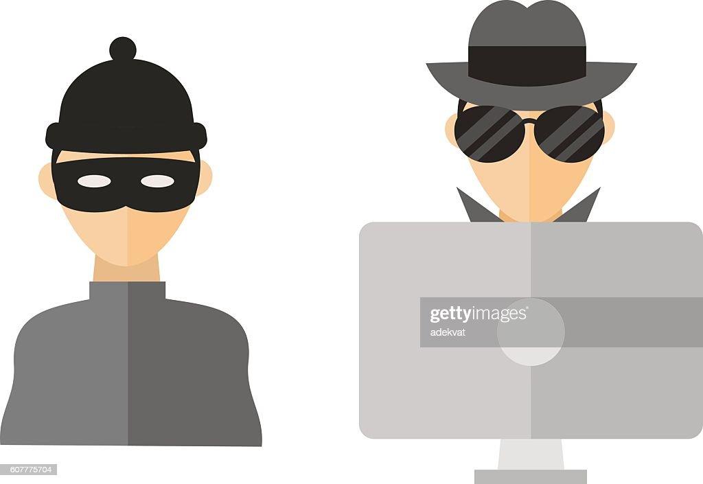 Hacker vector illustration.