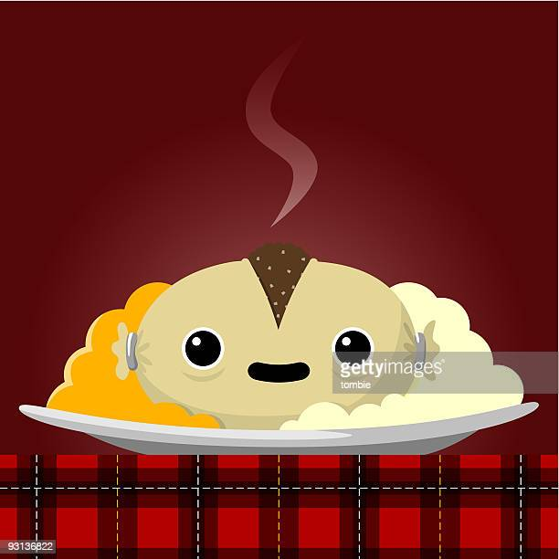 haggis - rutabaga stock illustrations, clip art, cartoons, & icons