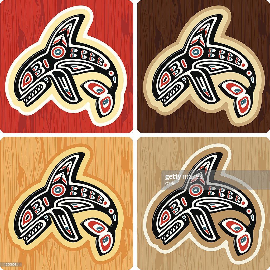 Haida style Killer Whale : stock illustration