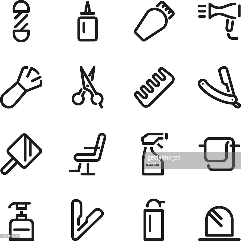 Hair Care Barber Icons
