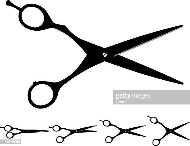 60点の理髪用はさみのイラスト素材クリップアート素材マンガ素材