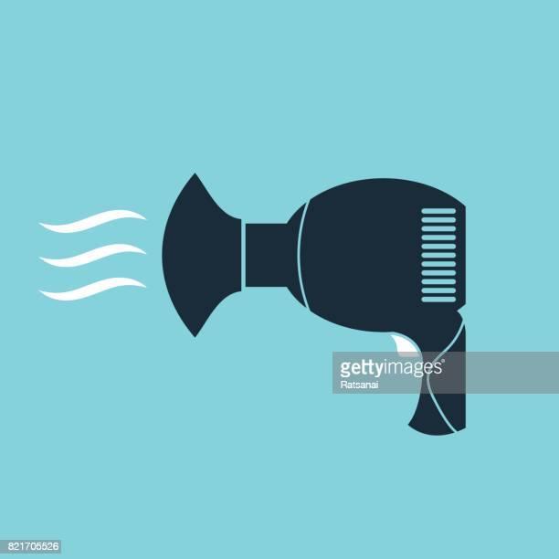 hair dryer - hair dryer stock illustrations, clip art, cartoons, & icons