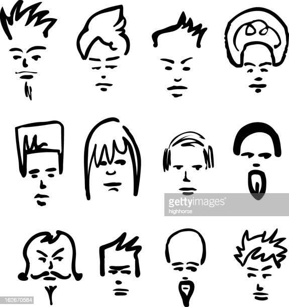 Hair Dudes - vector