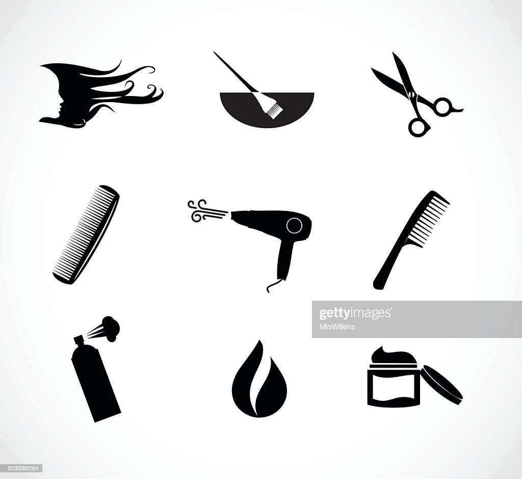 Hair salon icon set vector illustration