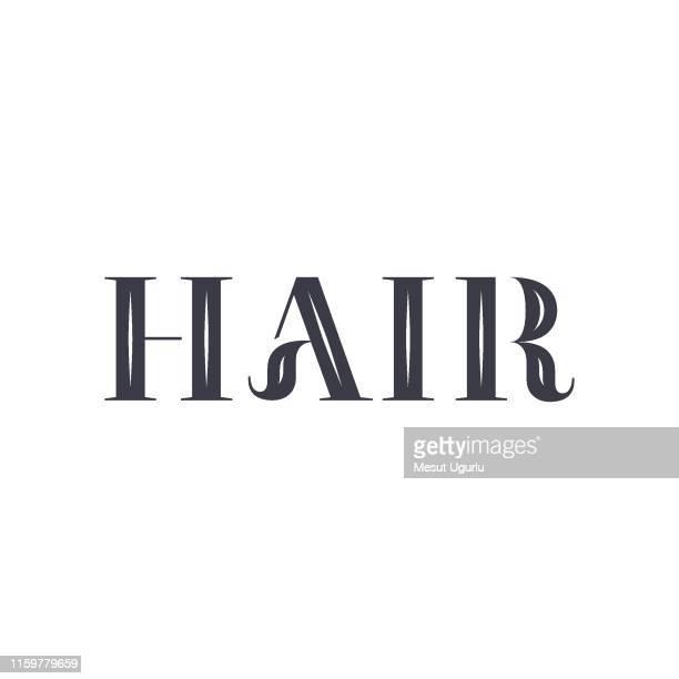Logotipo de peluquería. Barbería, estilo retro y vintage, diseño.