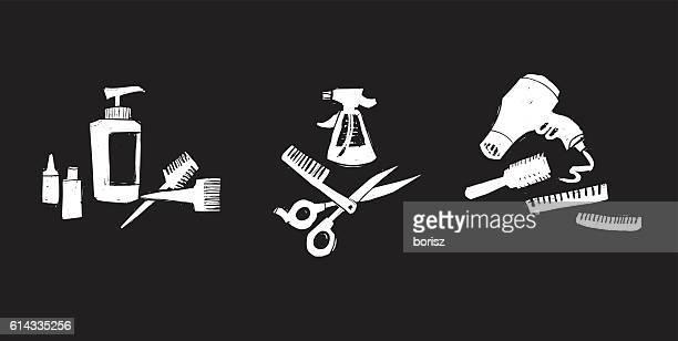 illustrations, cliparts, dessins animés et icônes de salon de coiffure  - ciseaux de coiffeur
