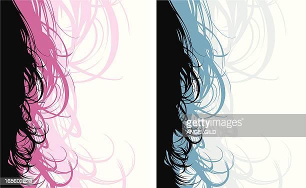 illustrations, cliparts, dessins animés et icônes de volute de cheveux - cheveux