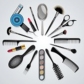 Hair stylist and makeup tools
