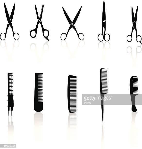 Hair tools silhouette