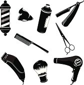 Hairdressing and Barber Shop Icons