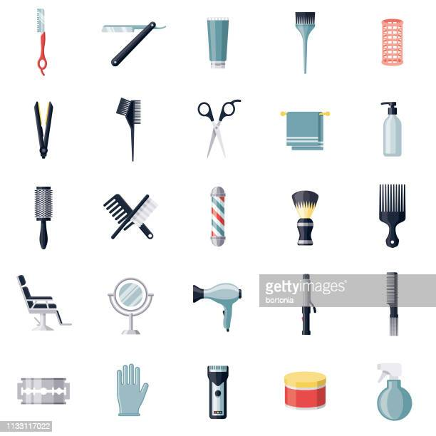 Hairdressing Icon Set