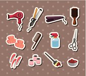 hairdressing KIT stickers