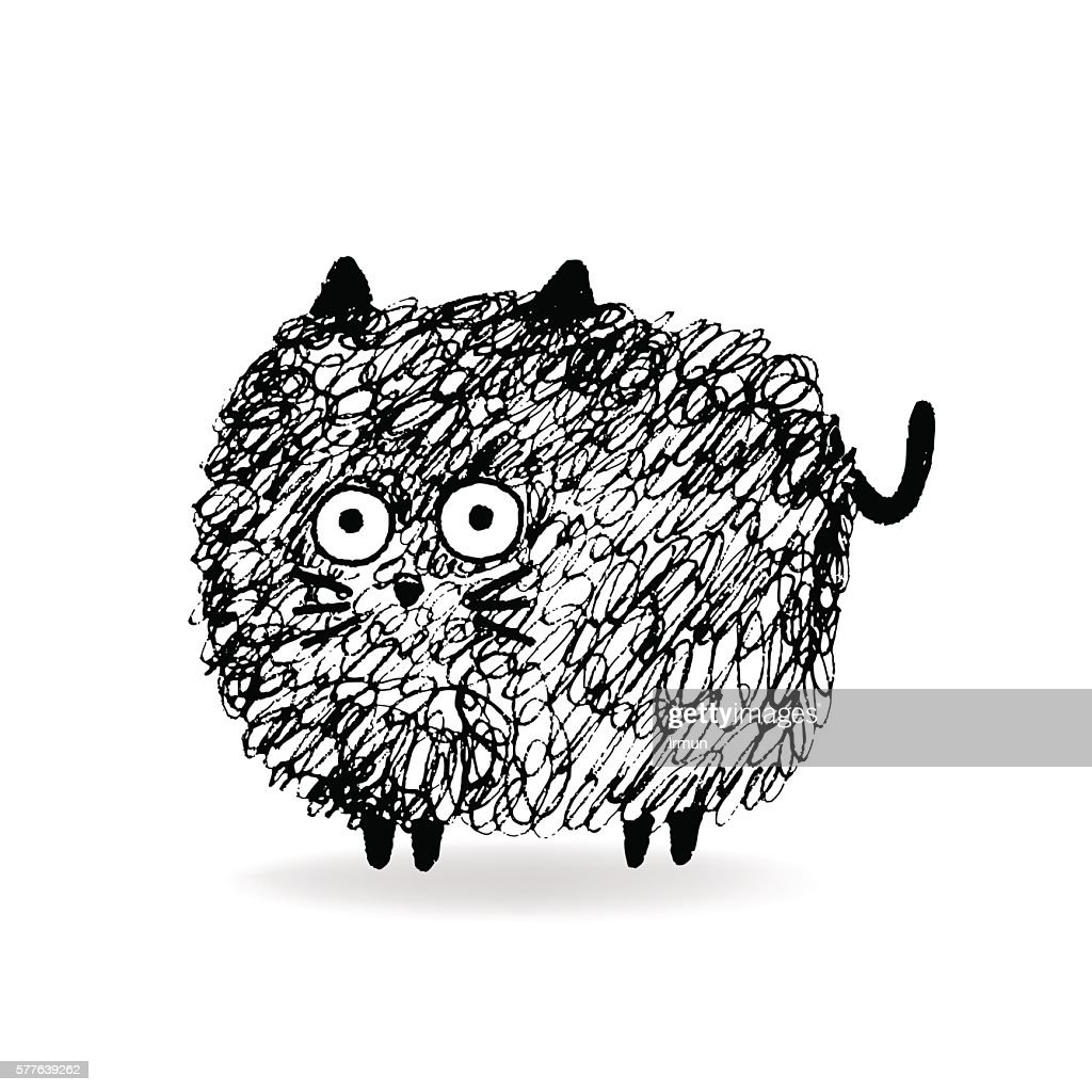 Hairy Cat sketch