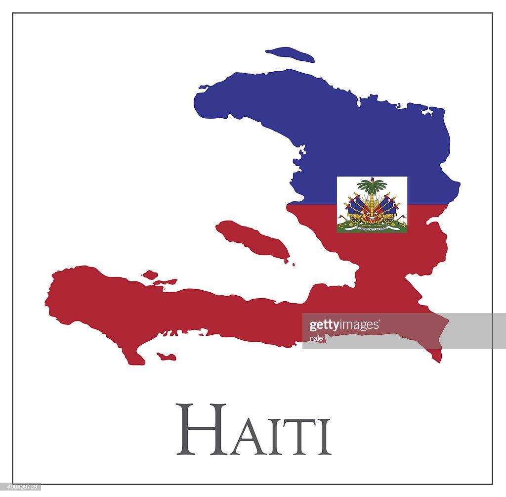 Haiti flag map