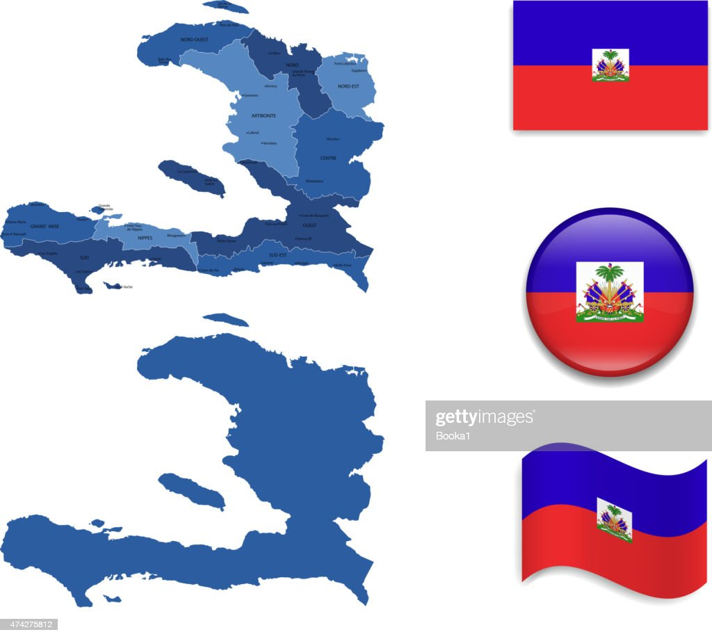 Haiti Map and Flag Collection