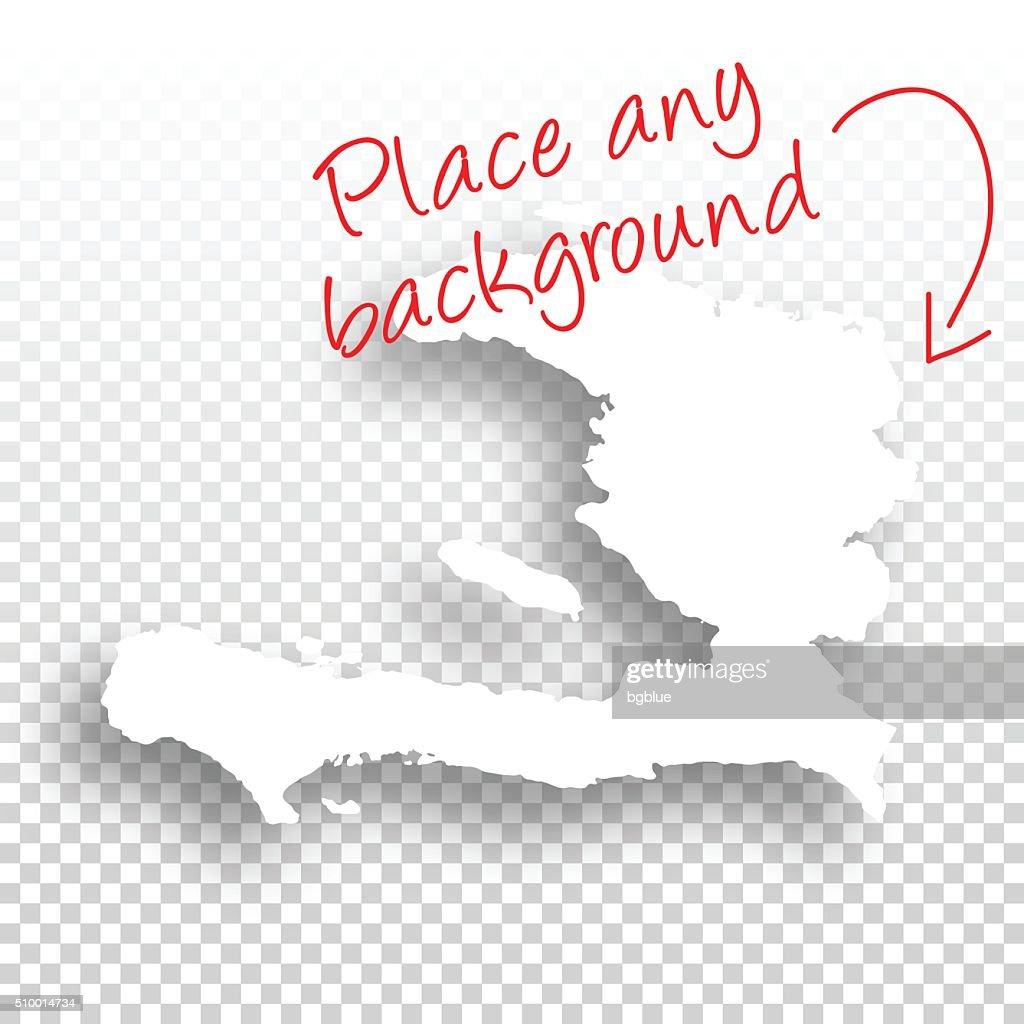 Haiti Map for design - Blank Background